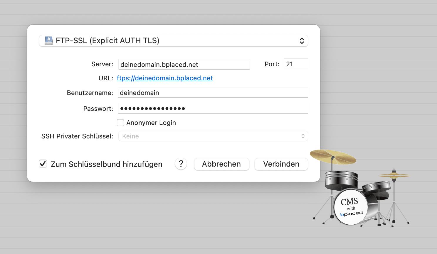 FTP-Client-Server-Anmeldung